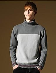 мужчин новый приходит лоскутное вскользь теплый стильный тонкий подходят вязать свитер
