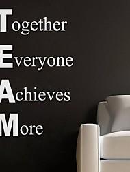 decalque da parede adesivo de parede jiubai ™ citação equipe