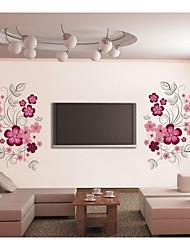 jiubai ™ fleur mur vigne sticker mural autocollant
