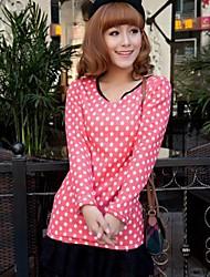 женская Франция бархата корейский шею длинными рукавами футболки