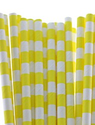20 Colors Food Safe Paper Drinking Straws Sailor Striped Paper Straws for Party Drinking (25 PCS)