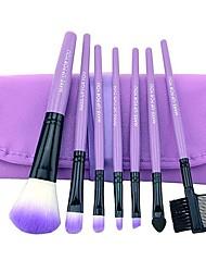 7pcs escovas de lã profissional kit de maquiagem cosméticos conjunto de pincel&ferramentas tornam-se caso