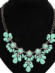 Welly Women's Candy Color Flower Rhinestone Gem Necklace