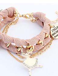 dolce atmosfera passo di MM donne filatura liquidazione bracciale in metallo con ciondolo braccialetto di diamanti