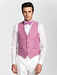 Light Purple Polyester Tailored Fit Vest