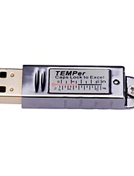 PCsensor® Temperature Logger USB PC Thermometer with Email Alarm Gold TEMPer