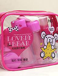 9pcs schöne Bären tragbaren transparent Reise Kosmetik Flasche Set