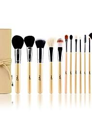 MSQ® 13pcs Makeup Brushes set Goat/Wool hair Professional Beige Powder/Foundation/Blush brush Shadow/Eyeliner/Lip/Brow/Lashes Brush Cosmetic Brushes