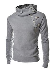 Informell Kapuzenshirt - Langarm - MEN - Pullover mit / ohne Mützen ( Baumwolle / Baumwoll Mischung )