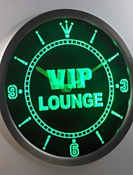 nc0413 VIP Lounge Bar Beer Club Pub Wine Neon Sign LED Wall Clock