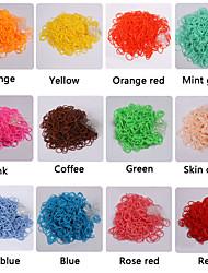 baoguang®300pcs moda tear de borracha da banda (CLIP 1package s, cores sortidas)