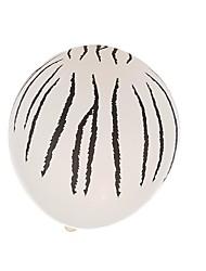 White  Stripes  Markings Balloons--Set of 24