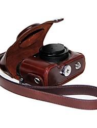 couro dengpin® câmera caso capa protetora da bolsa com alça de ombro para Nikon Coolpix p7700 p7800