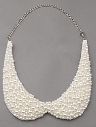 Women's Princess Flavor Chic Girl Pearl Style Necklace Retro Choker Parure Collar Chain