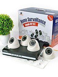 KAVASS® 4CH Channel POE NVR Home Video Surveillance 720P IP Camera System