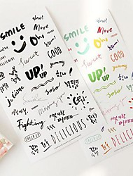 Art Word Transparent Sticker Set(2 Sheets)