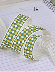Impressão em fita de borda padrão de cor dupla costela 3/8 polegadas da fita 25 metros por rolo (mais cores)