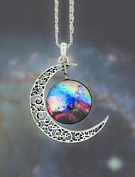 Women's Galaxy Star Moonstone Pendant Necklace