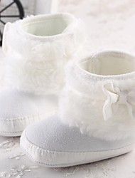 Baby Shoes Informale Cotone Stivali Bianco