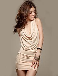 LMDF Sexy Slim Sequin Halter Sleeveless Dress