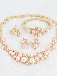2014 новые продукты 18k позолоченный звон ювелирный романтический жемчужное ожерелье Ювелирные наборы A062