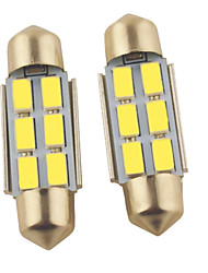 Carking ™-Girlande 36mm-5630-6SMD Auto-LED-Lampe Rom White Light (12V/2PCS)