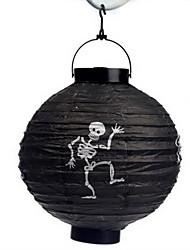 черный узор скелет фонарь Holloween украшения (лампа исключены)