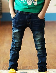 Boy's Cotton Jeans , All Seasons