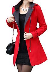 YINBO Red Cape Collar Long Sleeve Fashion Zipper Coat