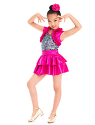 Kids' Dancewear Dresses&Skirts Children's Performance Satin