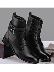 Men's Shoes Casual Leather Boots Black