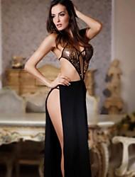 gran traje negro sexy de las mujeres Ibzán