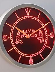 nc0255 ouvert nu exotique bar de danseuse bière signe direct au néon conduit horloge murale