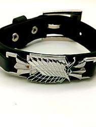 Schmuck Inspiriert von Attack on Titan Cosplay Anime Cosplay Accessoires Armbänder Schwarz Legierung / PU Leder Mann