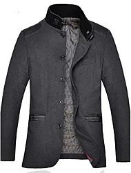 collare panno di lana giacca sportiva di svago degli uomini