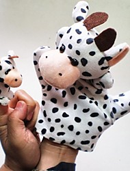 Lovely Cow Plush  Hand Puppets Children Glove Zoo Play Toy
