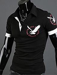 Melodie westlichen Stil Blumendruck kurze Ärmel Revers Neck T-Shirt