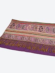 RGLT Tassels Jacquard Weaving Scarf(Purple)