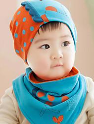 s von dr. Kinder-Kitz gestrickte Mütze und Schal (gelb&blau&grau)