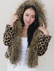 Women's The New Korean Luxury Short Like A Leopard Fur Jacket