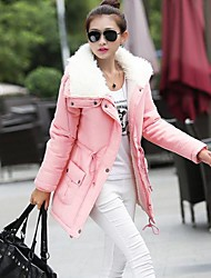 FuRuiXiang® Women's Medium-long Faux Fur  Collar 90% White Duck with Detachable Hat Down Jacket Slim Keep Warm Outerwear
