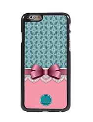 "Personalized Gift Bowknot and Flower Design Metal Case for iPhone 6 (4.7"")"