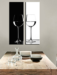 Tendu de toile d'art Still Life B & W Coupe Set de 2