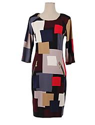 All Match Check Zipper Dress