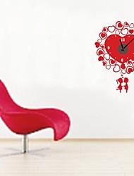 zooyoo® электронный хронометрист батареи DIY форме сердца настенные часы черный стикер стены домашнего декора для вас гостиная