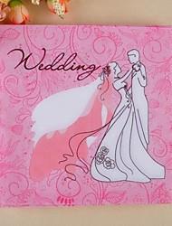 birde rosa&Tovaglioli sposo (set di 20)