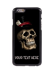 Personalized Case Cool Skull Pattern Metal Case for iPhone 6 Plus