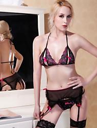 sexy lingerie gartered negro de las mujeres Ibzán