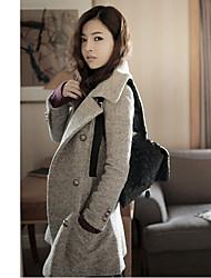 Miyue Women's Fashion  Slim Double-breasted Coat