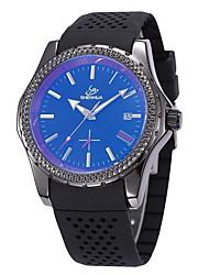 Мужской Спортивные часы С автоподзаводом Календарь силиконовый Группа Черный бренд- SHENHUA
